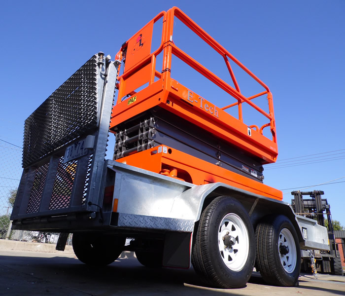 Dingli E-Tech S0812E Electric Scissor lift trailer package