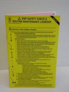 Part No. EWPLB EWP Safety Check and Routine Maintenance Logbook